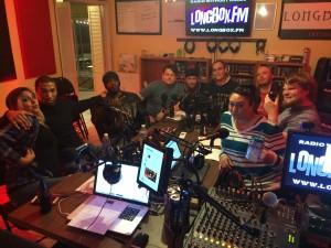 Aftershot Group Shot in the Longbox.FM studios.