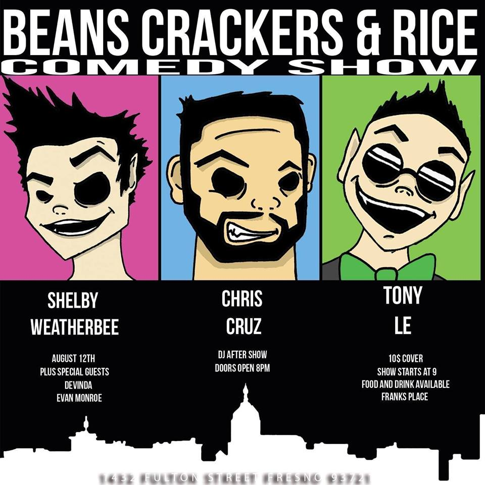 Beans Crackers and Rice